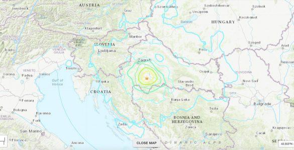 Potres smo čutili tudi v Sloveniji, Srbiji, BiH, Avstriji, Italiji, Črni gori in na Madžarskem. Vir: earthquake.usgs.gov