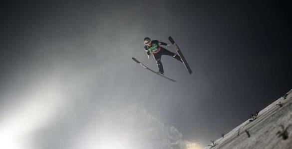 Na svetovnem prvenstvu v smučarskih poletih v Planici se je na posamični tekmi od slovenskih tekmovalcev najbolje odrezal Anže Lanišek. Foto: Nebojša Tejić/STA