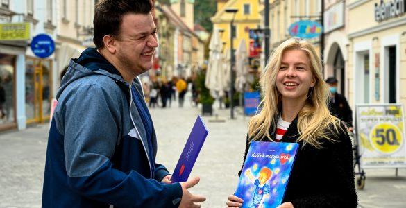 Avtor knjige Kristjan Veber in ilustratorka Špela Guček. Vir: Osebni arhiv