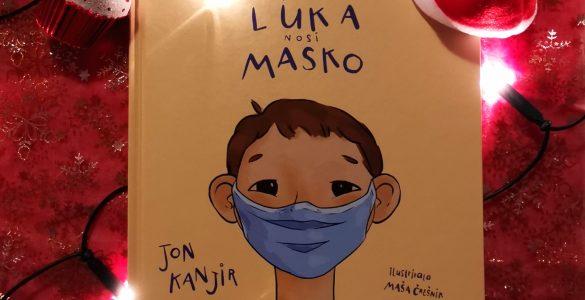 Slikanica Tudi Luko nosi masko. Vir: osebni arhiv