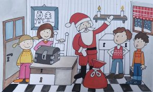 Božiček. Ilustracija: Urška Stropnik Šonc