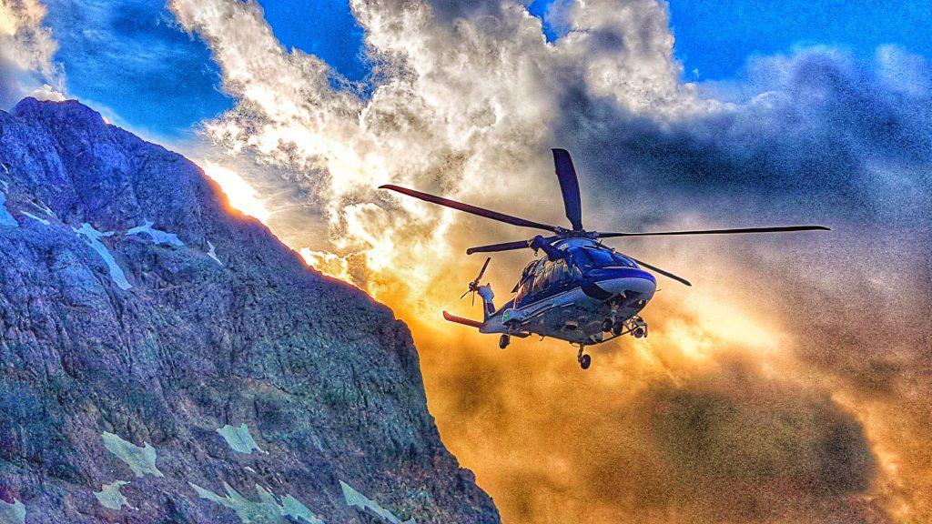 Policijski helikopter. Vir: Arhiv Policije
