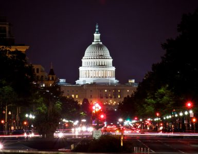 Capitol Building is the meeting place of the United States Congress and the seat of the legislative branch of the U.S. federal government. Source: Wikimedia Commons