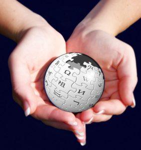 Wikipedijo gradimo skupaj. Vir: Flickr
