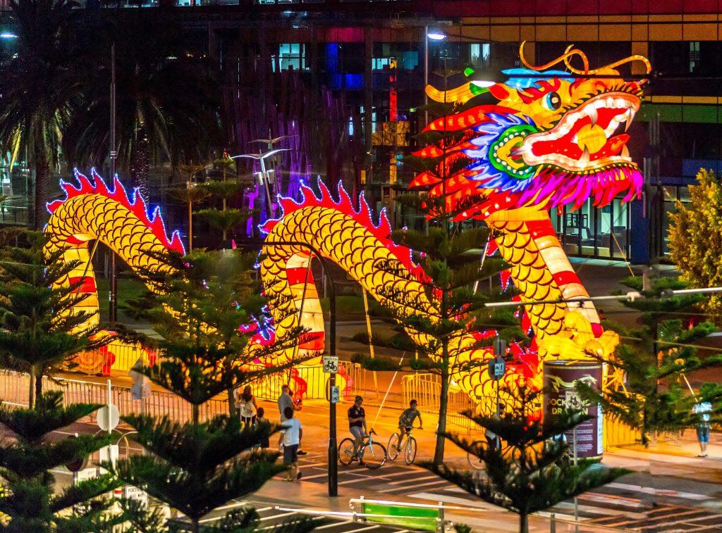 Kitajski novoletni zmaj. Vir: Wikimedia