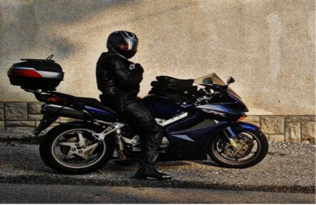 Biker Tomaž Jelen. Vir: Osebni arhiv