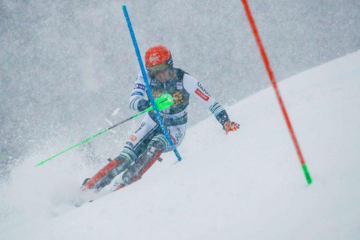 Štefan Hadalin na tekmi za 60. Pokal Vitranc. Foto: Stanko Gruden/STA