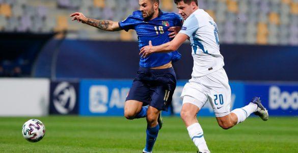 Slovenski mladi nogometaši so na tkemi z Italijo izgubili z 0:4. Vir: Arhiv Časorisa