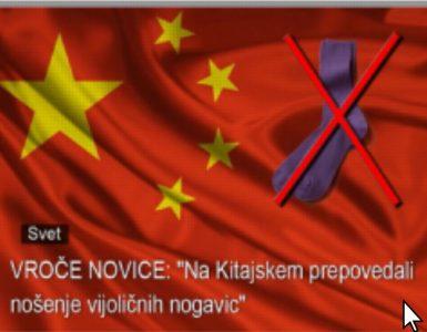 Ali so na Kitajskem res prepovedali nošenje vijoličnih nogavic? Vir: Posnetek zaslona