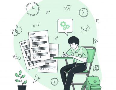 Pisni izpit iz matematike bo 5. junija, med 1. in 16. junijem pa bodo potekali pisni izpiti iz izbirnih predmetov. Vir: Freepik