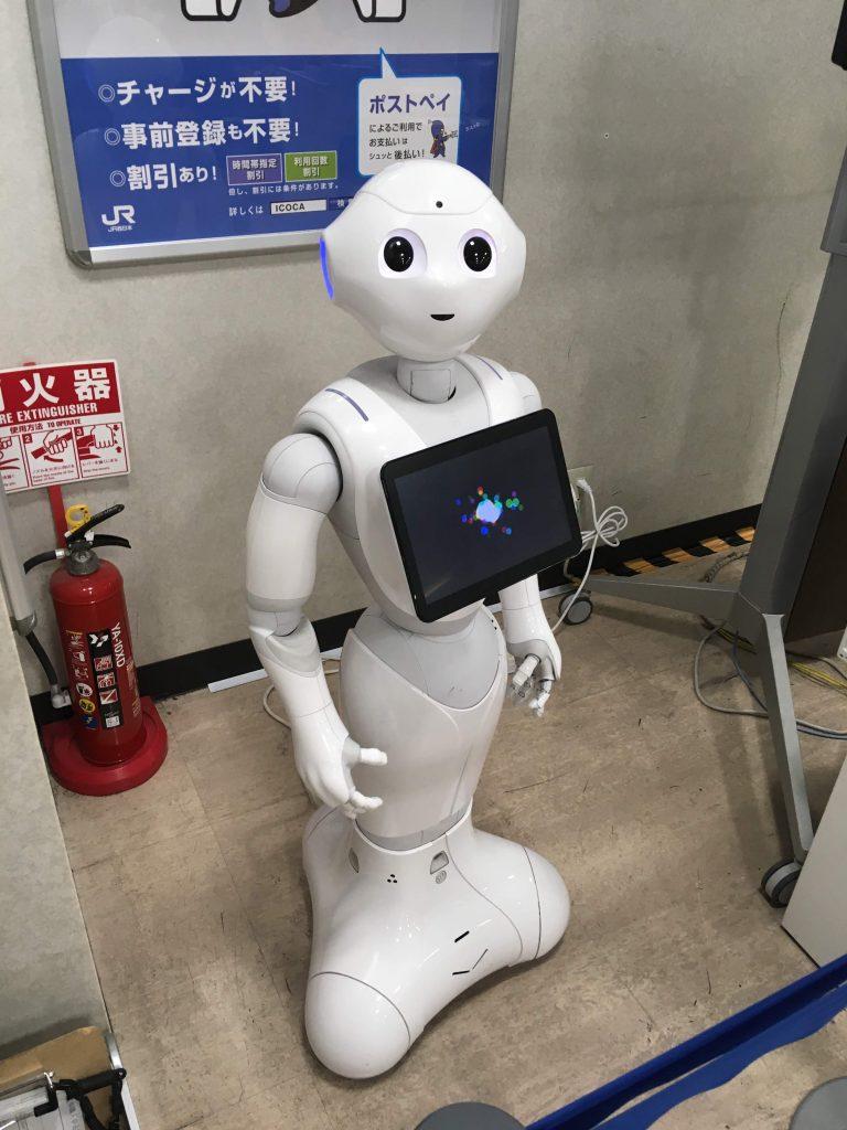 Pepper robot je naprodaj tudi v Evropi. Vir: Wikimedia Commons