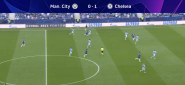 Trenutek na tekmi med kluboma Man City in Chelsea. Vir: Posnetek zaslona