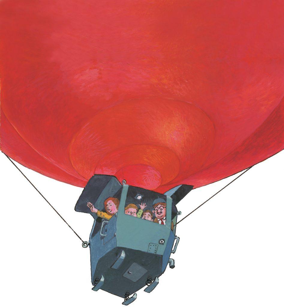 Balon velikon. Ilustracija. Matjaž Schmidt/Arhiv MK