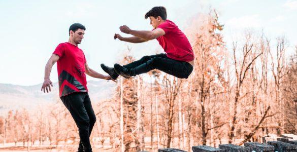 Akrobatska skupina Dunking Devils v svoji desetletni karieri izvedla že vrsto neverjetnih podvigov. Vir: Dunking Devils