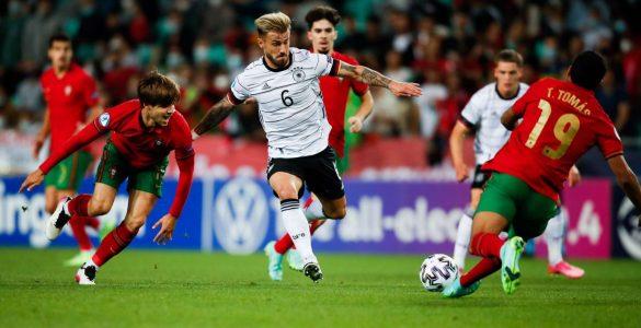 V finalu evropskega prvenstva do 21 let sta se pomerili reprezentanci Nemčije in Portugalske. Foto: Anže Malovrh/STA