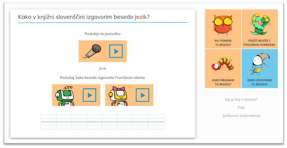 Namenjen je učencem in dijakom pri učenju slovenščine. Vir: Franček.si