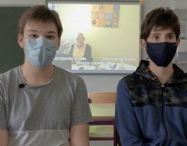 Alex Tomasini in Matevž Štifter sta s sošolci posnela predstavitveni film o šoli. Foto: Anže Sobočan