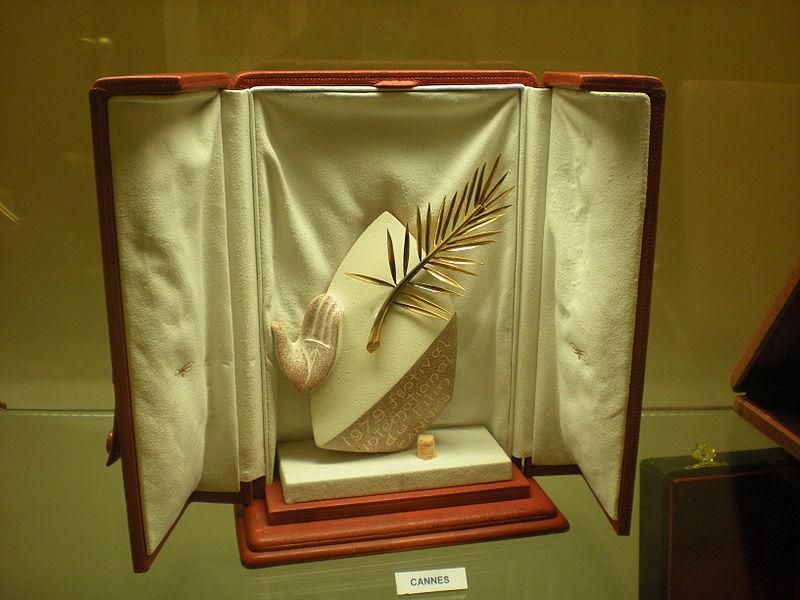 Zlata palma je nagrada, ki jo dodelijo najboljšemu celovečernemu filmu. Vir: Wikipedia Commons