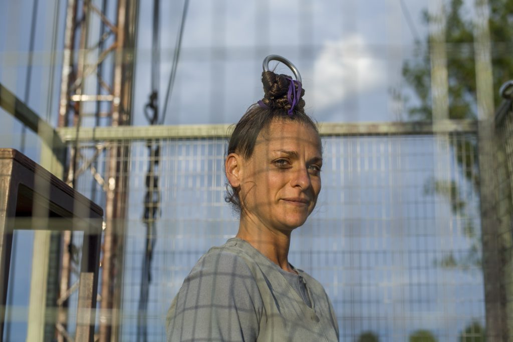 Priprave na visenje na laseh. Foto: Michele Lapini