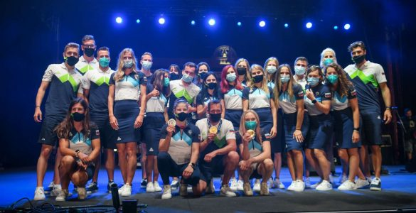 Sprejem članov olimpijske reprezentance Slovenije Tokio 2020. Foto: Nebojša Tejić/STA