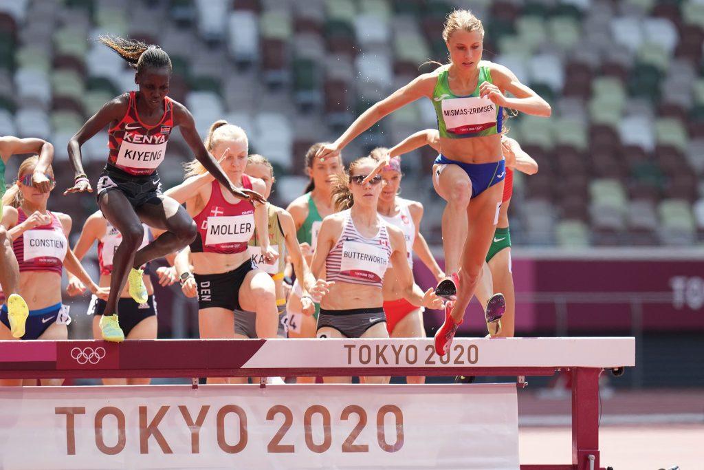 Maruša Mišmaš Zrimšek se je uvstila v finale teka na 3000 metrov z zaprekami. Vir: OKS