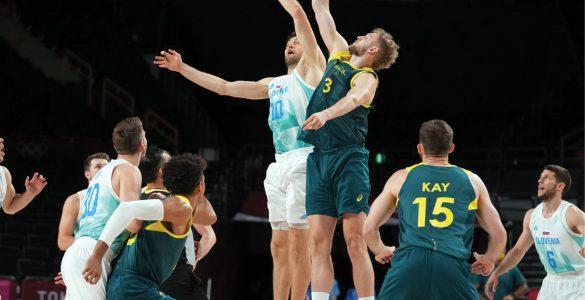 V tekmi za bron so bili Avstralci boljši od Slovencev. Vir: OKS
