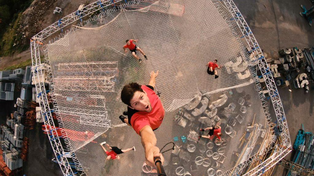 Odbit trampolinski most. Vir: Dunking Devils