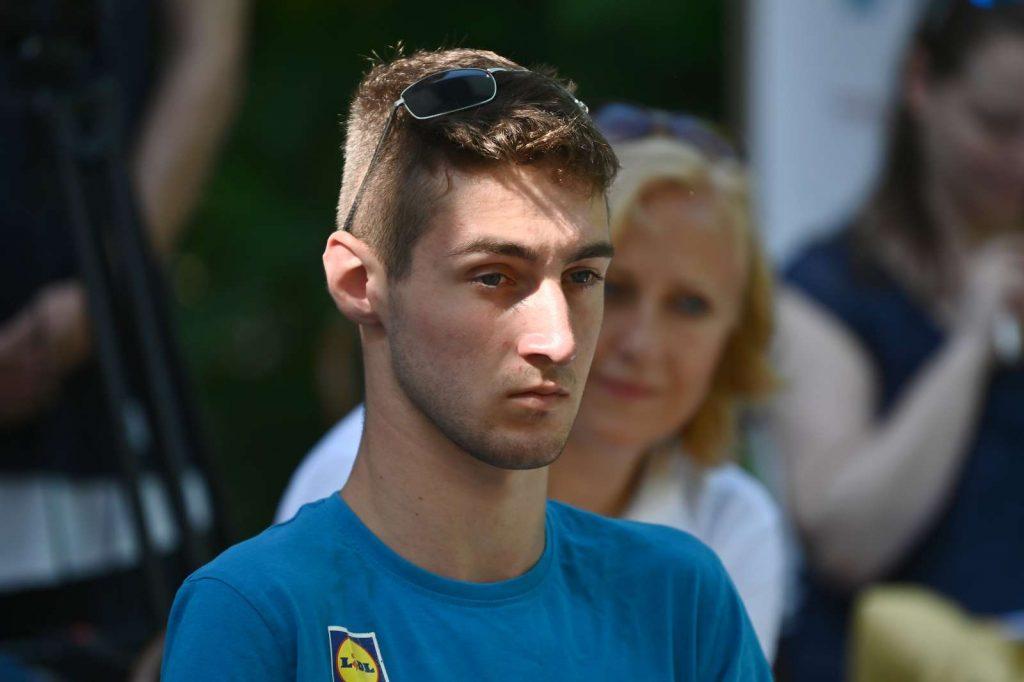 Paraplavalec Tim Žnidaršič Svenšek. Foto: Tamino Petelinšek/STA