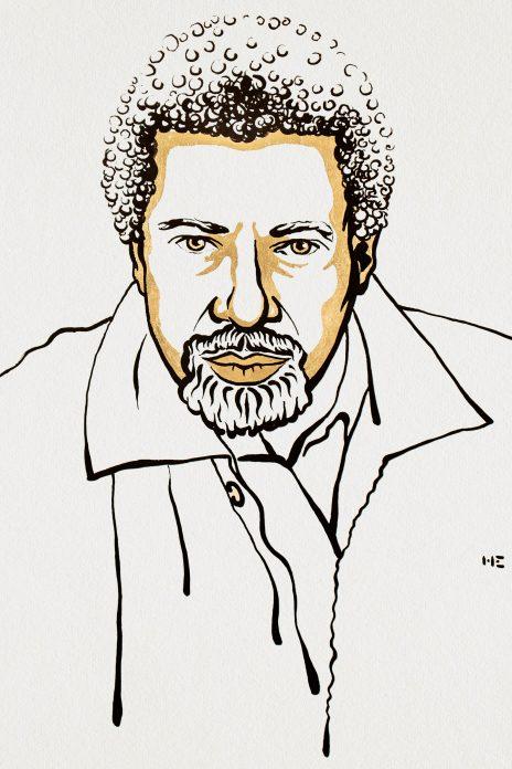 Abdulrazak Gurnah. Ilustracija: Niklas Elmehed/Nobel Media