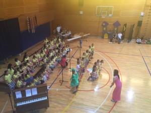 Nastop pevskega zbora. Foto: Uredništvo.